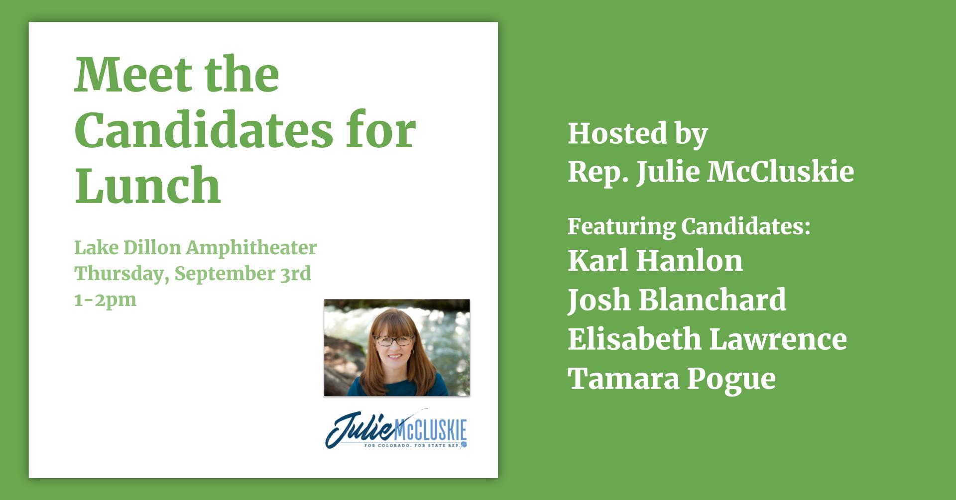Julie McCluskie Meet the Candidates Event