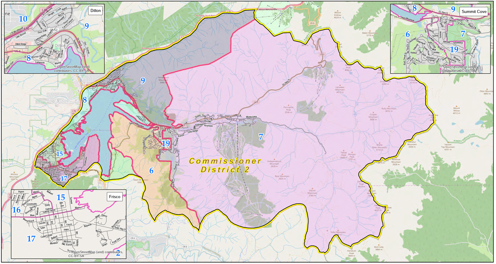 Summit County, Colorado Voting District 2 Map